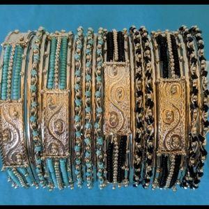 Bangle Bracelets - 22 Individual Coordinating